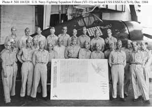 pilots of VF-15 on USS Essex